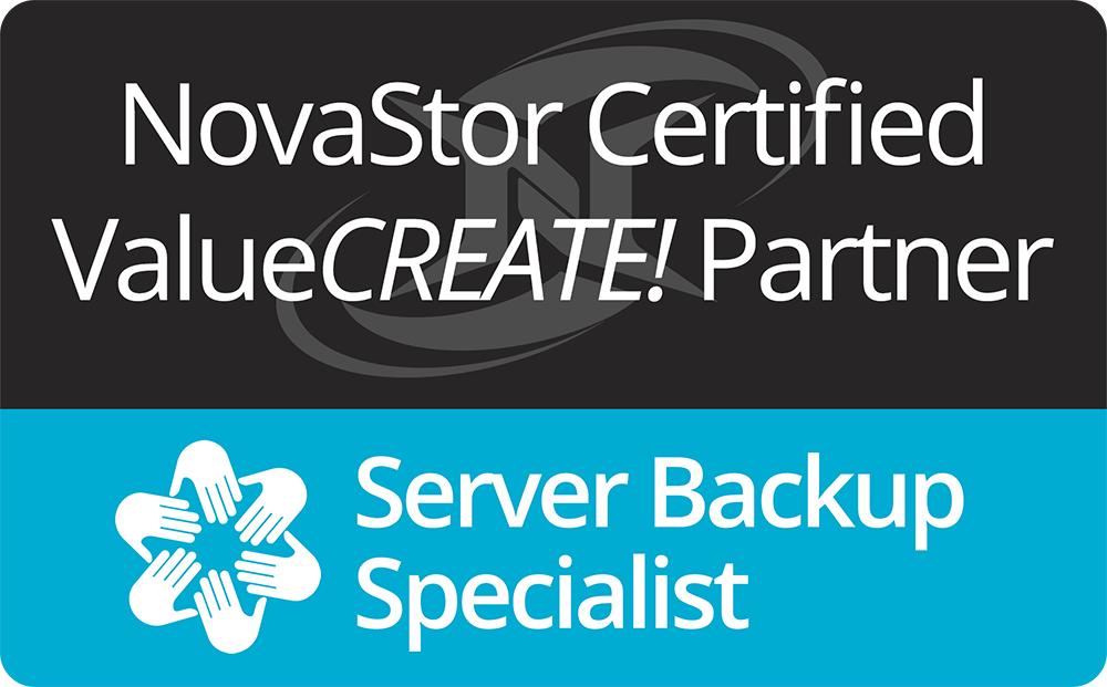 NovaStor Certified Server Backup Specialist Logo